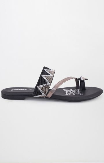 Global Desi | Black Ethnic Sandals