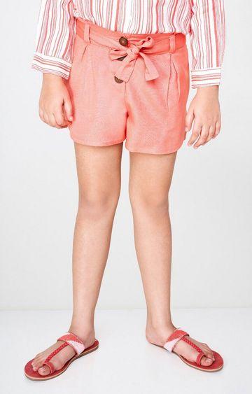 Global Desi | Peach Solid Shorts