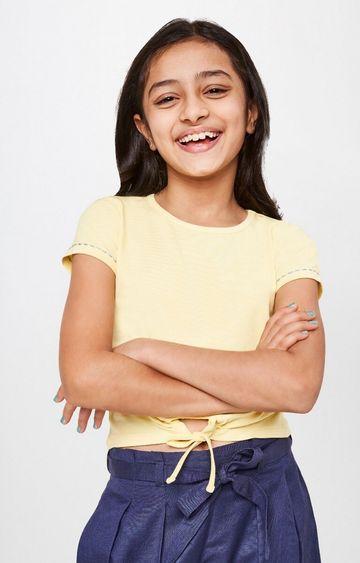 Global Desi | Yellow Solid Top