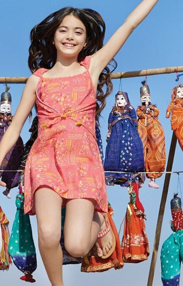Global Desi | Coral Printed Dress
