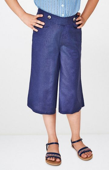 Global Desi | Blue Solid Trousers