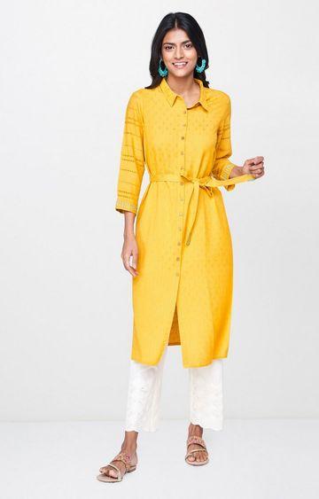 Global Desi | Mustard Printed Tunic