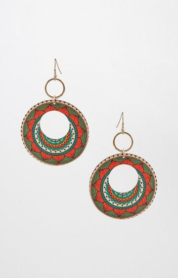 Global Desi | Multicoloured Dangle and Drop Earrings