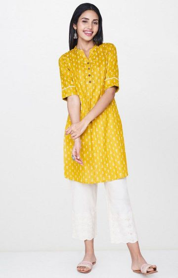 Global Desi | Mustard Printed Tunic