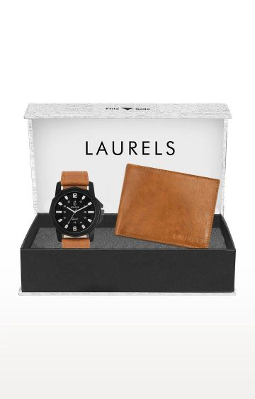 Laurels | Tan Watch and Wallet Combo
