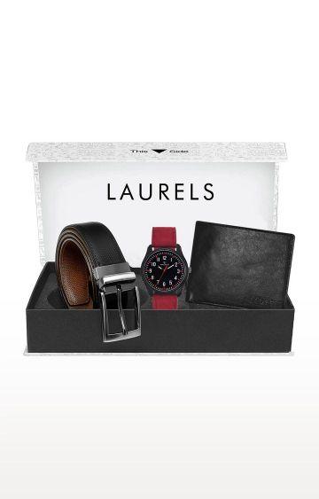 Laurels | Brown Watch, Wallet and Belt Combo
