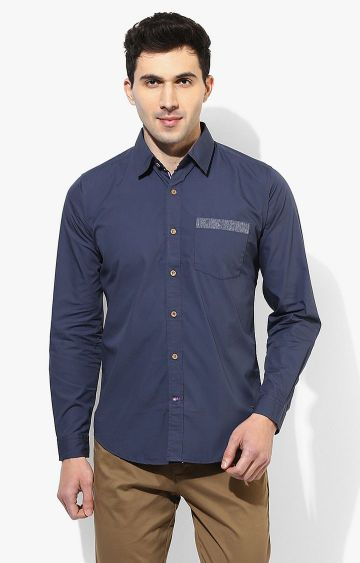 RED CHIEF | Navy Solid Casual Shirt