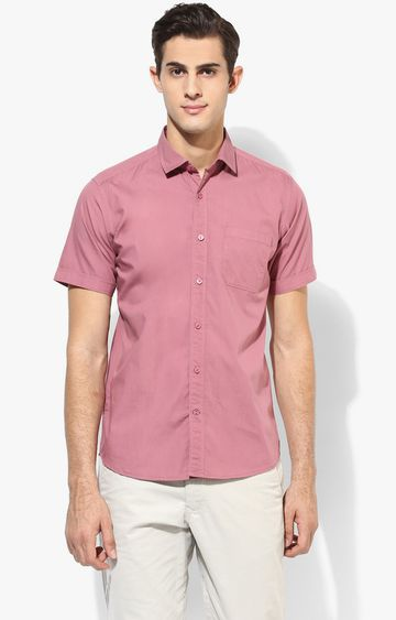 RED CHIEF | Pink Solid Casual Shirt