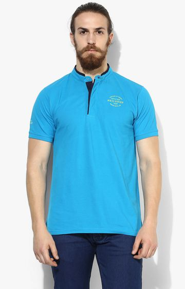 RED CHIEF | Turquoise Solid T-Shirt