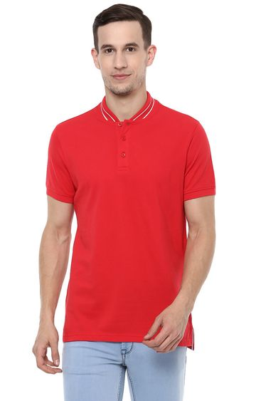 RED CHIEF | Red Solid T-Shirt