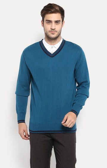 RED CHIEF | Teal Solid Sweater