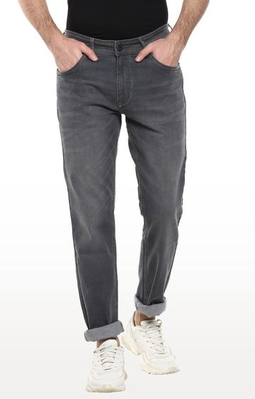 RED CHIEF | Grey Solid Slim Fit Jeans
