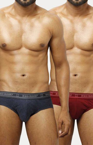 RED CHIEF   Blue and Maroon Briefs - Pack of 2