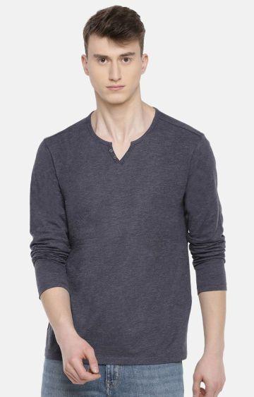 celio   Navy Melange T-Shirt