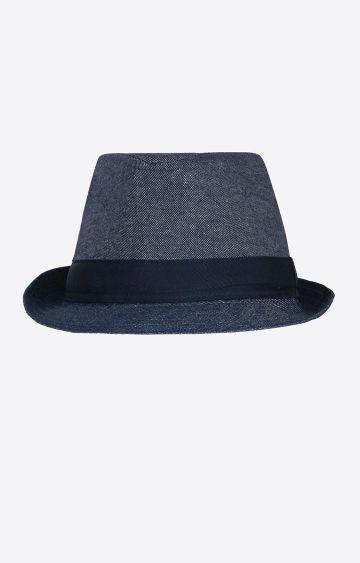 celio | Indigo Solid Fedora Hat
