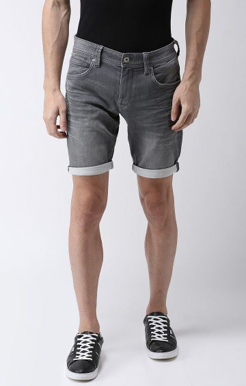 celio | Grey Solid Shorts