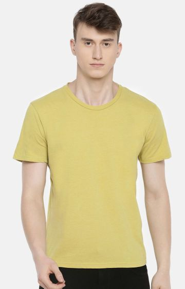 celio | Yellow Solid T-Shirt
