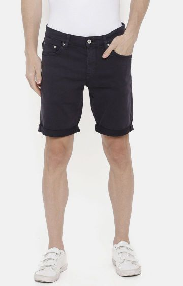 celio | Navy Solid Shorts