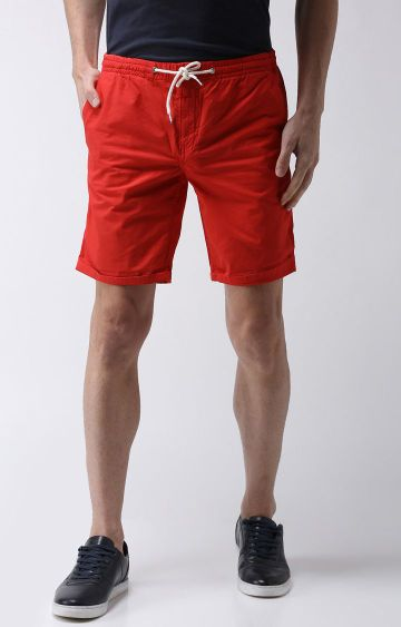 celio | Red Solid Shorts