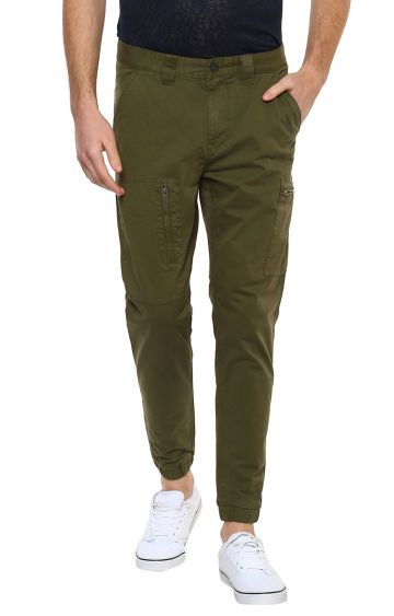 celio | Green Solid Casual Joggers