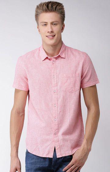 celio | Pink Printed Regular Fit Casual Shirt