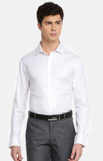 celio | White Solid Formal Shirt
