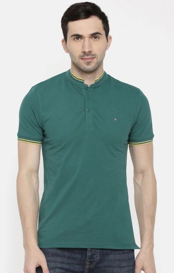 celio | Green Solid Polo T-Shirt