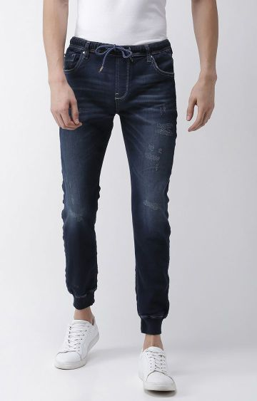 celio | Blue Ripped Skinny Fit Joggers Jeans