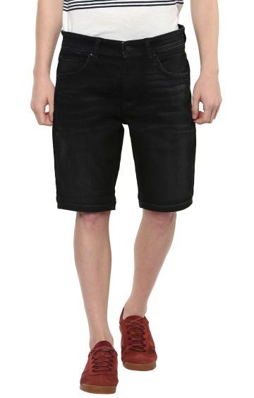 celio | Black Solid Shorts