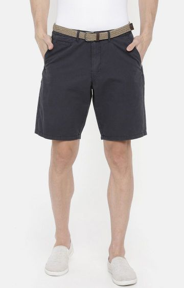 celio | Navy Solid Shorts
