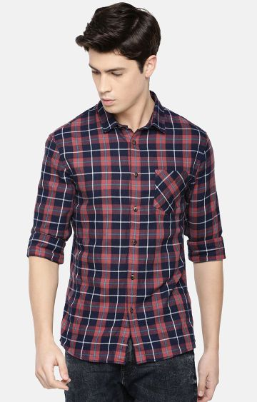 celio | Multicoloured Checked Casual Shirt