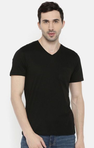 celio | Black Solid T-Shirt