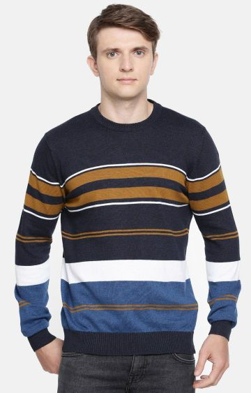 celio | Multicoloured Striped Straight Fit Sweater