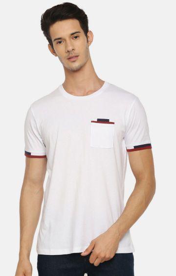 celio   White Solid T-Shirt