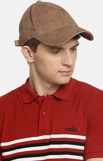 celio | Beige Solid Baseball Cap