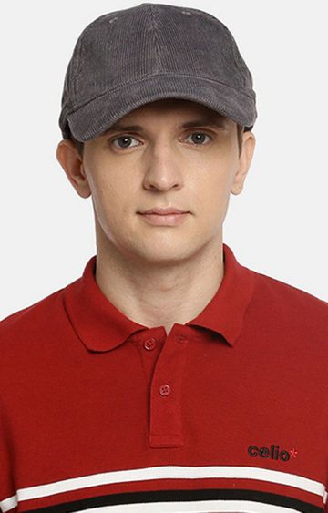 celio | Grey Solid Baseball Cap