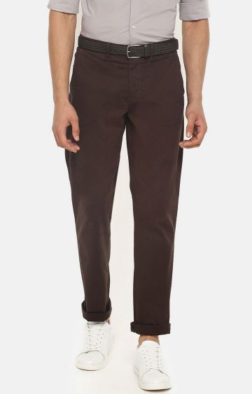 celio | Brown Straight Fit Chinos