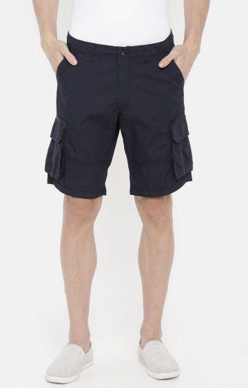 celio | Blue Solid Shorts