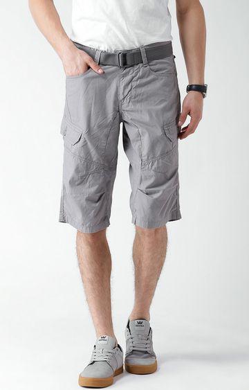 celio   Grey Cargo Shorts