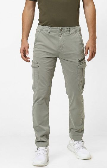 celio | Green Tapered Chinos