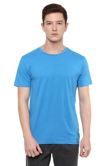 celio | Blue Solid T-Shirt