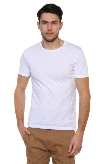 celio   Optical White Solid T-Shirt
