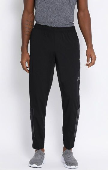 adidas | Black Solid Trackpants