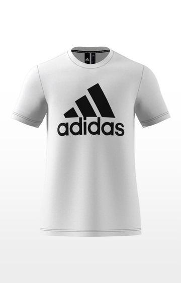 adidas   adidas White Printed Mh Bos T-Shirt
