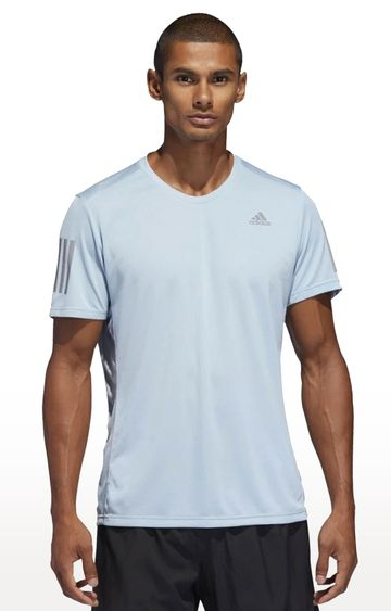 adidas | Blue Solid T-Shirt