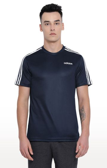 adidas | Blue Solid T-Shirt