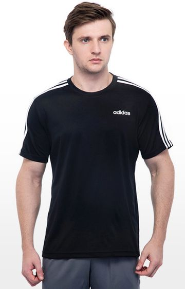 adidas   Black Solid M Cls 3S T-Shirt
