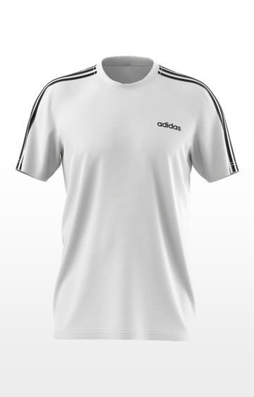 adidas | White Solid M D2M 3S T-Shirt