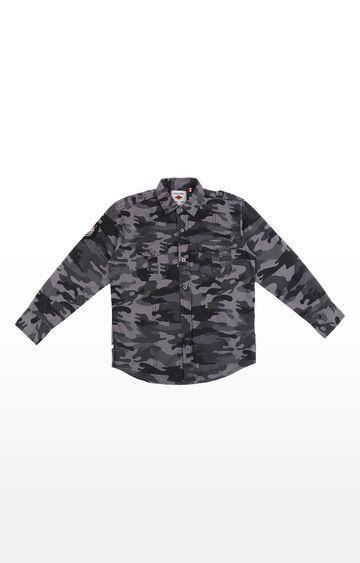 Gini & Jony | Grey Printed Shirt