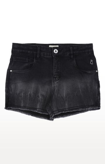 Gini & Jony | Black Solid Shorts